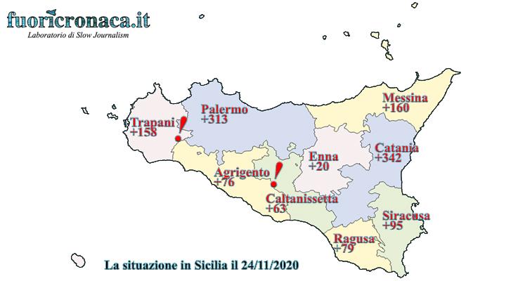 coronavirus sicilia 24 novembre bollettino